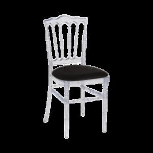 Chaise Napoléon transparente- Réf : 100017