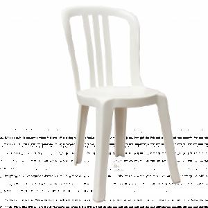 Location chaise plastique blanche - Réf : 10006