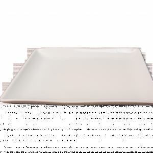 Location assiette carrée plate 25cm- Réf : 6002