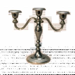 Location chandelier argenté 3 branches - Réf : 7010
