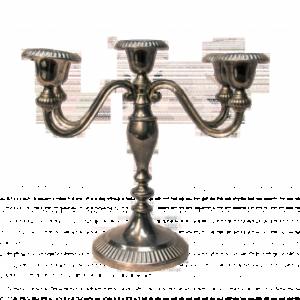 Location chandelier argenté 5 branches - Réf : 7011