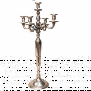 Location chandelier argenté 5 branches 80cm